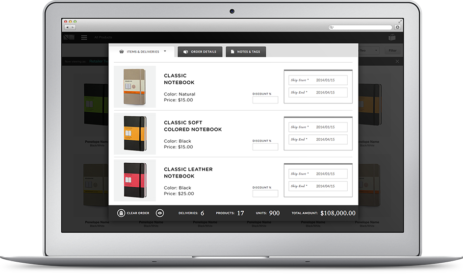 CREATE ORDERS<br /> ON THE WEB OR<br /> OUR iPAD APP