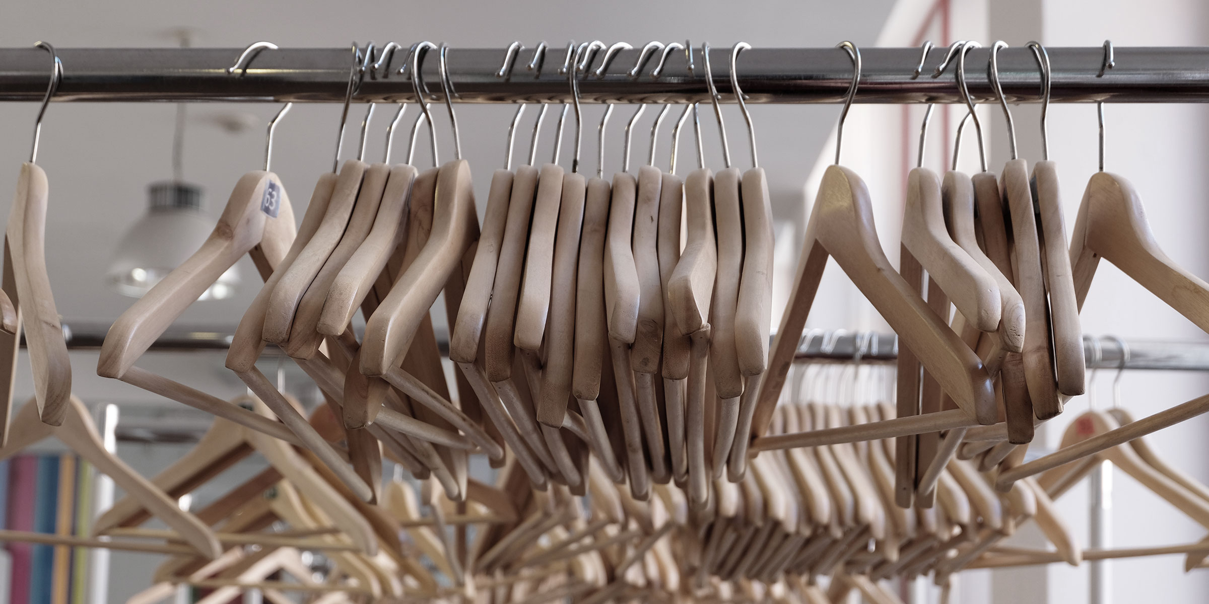photo of clothes hangers